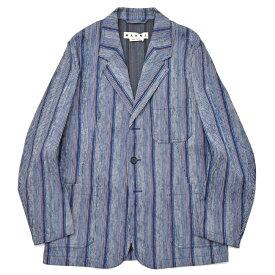 【SALE30】MARNI(マルニ)コットンマルチストライプ3Bジャケット GUMUWBN049 17081400138