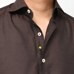 Giannetto(ジャンネット)コットンツイルソラーロセミワイドカラーシャツVINCIFIT/92031110300V8111092000109