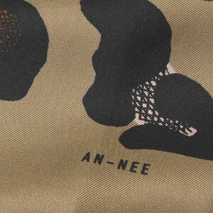 ANNEE(アネー)シルクツイルレオパードプリント大判スカーフLEOPARD18392001025
