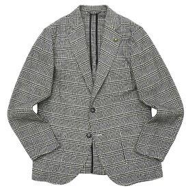 【SALE30】Giannetto(ジャンネット)ポリエステルウールライトツィードグレンチェック2Bシャツジャケット 9203A351RIVS 17092002109