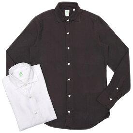 Finamore(フィナモレ)LUIGIルイジ/BALIバーリ コットンライトネルソリッドワイドカラーシャツ A9040 11092001039