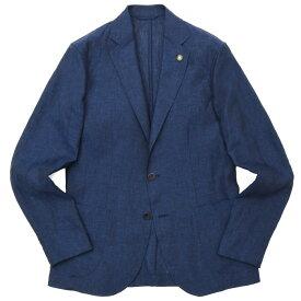 【SALE30】Giannetto(ジャンネット)コットンリネンシャンブレーソリッド2Bシャツジャケット 844CORA 17001001109
