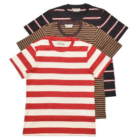 MARNI(マルニ)コットンマルチボーダークルーネックS/Sカットソー 3枚組パックTシャツ HUMU0151S0S23627 12101401138