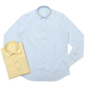 Finamore(フィナモレ)LUIGIルイジ/BALIバーリ ウォッシュドコットンシアサッカーキャンディーストライプワイドカラーシャツ P2030 11001001039