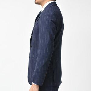 GianfrancoBommezzadri(ジャンフランコボメザドリ)ウールフレスコチョークストライプ3B1プリーツスーツFJ512511+1SK11/B229417101202027
