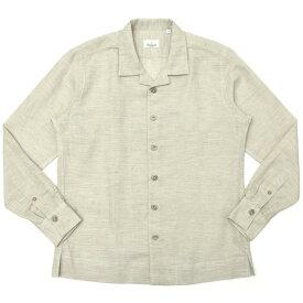 Giannetto(ジャンネット)コットンリネンバスケットソリッドオープンカラーシャツジャケット NEW CARAIBI/01810 17001003109
