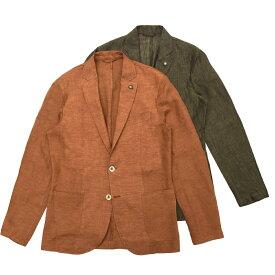 【SALE30】Giannetto(ジャンネット)リネンソリッド2Bシャツジャケット CORALLO JACKET/01852 17001008109