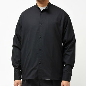 moncao(モンサオ)ウールシルクトロピカルバンドカラーシャツMON-00711002401172