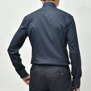 BARBA(バルバ)406ストレッチコットンブロードソリッドワイドカラーシャツI/406/TONDO/662011102200022