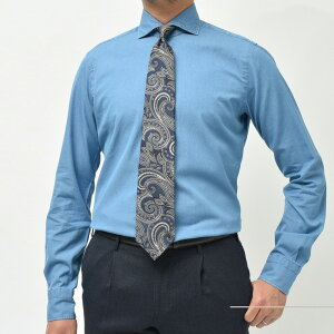 BARBA(バルバ)406ウォッシュドコットンダンガリーワイドカラーシャツI/406/TONDO/PZ0911102207022
