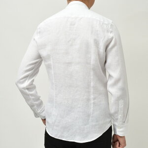 Bagutta(バグッタ)ウォッシュドリネンソリッドバンドカラーシャツCANNESGL/0004511011000054