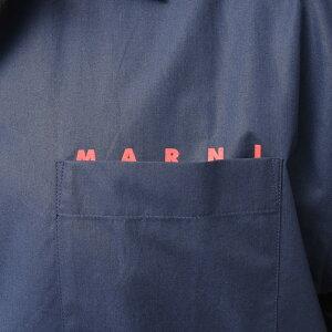 MARNI(マルニ)コットンポプリンオープンカラーロゴS/SシャツCUMU0202P0S5366311011402138