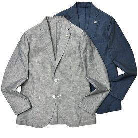 【SALE30】Giannetto(ジャンネット)コットンリネンメランジ2Bシャツジャケット CORALLO/11821/11822 17011000109