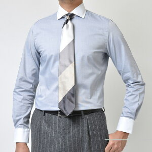 GUYROVER(ギローバー)コットンピンオックスソリッドワイドカラークレリックシャツ3150W2530/51210411112202027