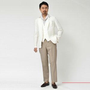Giannetto(ジャンネット)リネンソリッド2BシャツジャケットAG832JK17091004109