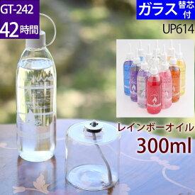 ハーバリウムオイルランプ アレンジセット GT−242 お好み300オイル 芯 G3−15【レインボーオイルセット・ガラス替芯付】オイルランプ 容器 ハーバリウム ランプ キット 材料 資材 【GT-242 210cc 42時間燃焼タイプ】 UPS614【RCP】