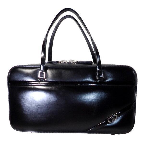 【付属品付き】 Christian Dior クリスチャンディオール バッグ ハンドバッグ パーティーバッグ ブラックレザー 【中古】