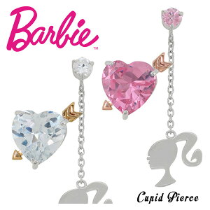 Barbie バービー 国内生産 キューピット ハート ジルコニア シルバーピアス 2P 選べる2カラー レディース ピアス キューピッド シルバー プレゼント 誕生日 記念日 ギフトBOX 女性 公式 ブランド