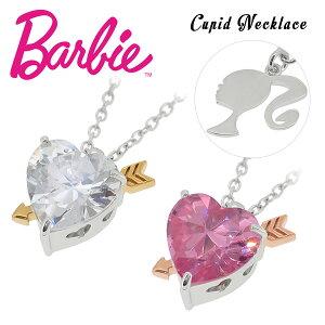 Barbie バービー 国内生産 キューピット ハート ジルコニア シルバーネックレス 選べる2カラー レディース ネックレス キューピッド シルバー ペンダント プレゼント 誕生日 記念日 ギフトBOX