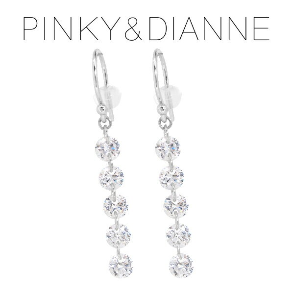 ピンキー&ダイアン スパークルライン ジルコニア シルバーフックピアス ピンキーアンドダイアン PINKY&DIANNE ピアス レディース 女性 プレゼント 誕生日 記念日 ジュエリー ブランド 人気 彼女 かわいい おしゃれ