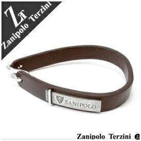 ブラウン ブランドプレートレザーブレスレット 幅約1.0cm 16cm Zanipolo Terzini レザ- レディース レザーブレス 牛皮 女性用 牛革製プレゼント 人気 かわいい おしゃれ