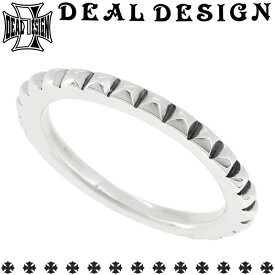 DEAL DESIGN ディールデザイン クッションスタッズリング 1号〜23号 シルバーリング 指輪 シルバー950 メンズ ブランド DEALDESIGN ロック パンク スタッズ シンプル エッジ 重ね付け シャープ 人気 おしゃれ