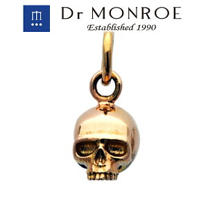 Dr MONROE ドクターモンロー K10スカルチャーム スカル 骸骨 ドクロ ブランド 10金 K10 10K イエローゴールド ペンダントトップ ゴールドペンダント ゴールドチャーム ゴールドネックレス メンズ