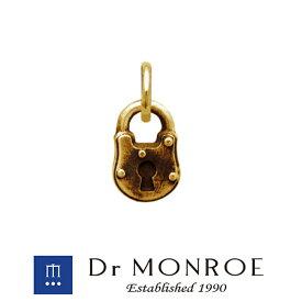 Dr MONROE ドクターモンロー K10ロックチャーム 鍵 錠前 南京錠 ブランド 10金 K10 10K イエローゴールド ペンダントトップ ゴールドペンダント ゴールドチャーム ゴールドネックレス メンズ レディース アクセサリー ギフト プレゼント おしゃれ