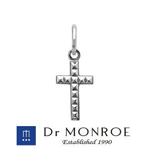Dr MONROE ドクターモンロー スタッズクロスチャーム クロス 十字 スタッズ パンク ブランド シルバーアクセサリー シルバー925 シルバー スターリングシルバー ペンダントトップ シルバーチャ