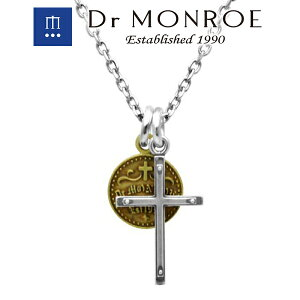 Dr MONROE ドクターモンロー クロス&コインペンダント (チェーンなし) クロス 十字 ロゴ シンボル コイン レイヤード 重ね着け 2連 ブランド シルバーアクセサリー シルバー925 シルバー スター