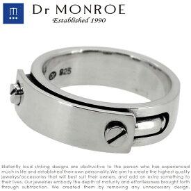 Dr MONROE ドクターモンロー ビスプレートリング 7号〜23号 シルバーリング メンズリング 指輪 リング シルバー925 シルバーアクセ メンズ ブランド DRMONROE きれいめ シンプル ユニーク ビス ネジ 鏡面仕上げ 無機質 機械 メカニカル 人気 おしゃれ
