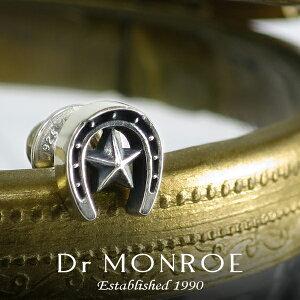 DrMONROEドクターモンロースターホースシューピアス1P片耳用シルバー925シルバーアクセスタッドピアスメンズピアスラッキーモチーフカジュアルアメリカン星馬蹄蹄鉄無機質プレゼントブランド人気おしゃれ
