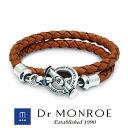 Dr MONROE ドクターモンロー レザーブレスレット シンプル モード スタイリッシュ 英語 英字 英文 メッセージ ブラン…