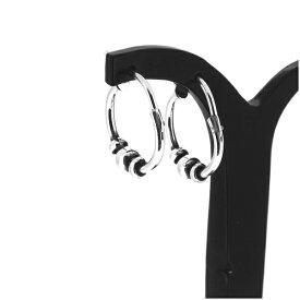 ボール フープピアス 2P 両耳用 14mm ピアス イヤリング シルバー925 銀 シルバーアクセサリー メンズ レディース 男性 女性 アクセサリー ギフト プレゼント おしゃれ