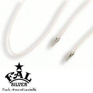 F.A.L ゴシックネイル クリーム カラーチョーカー ネックレス(ペンダントトップなし) スパイク とげ 編み紐 コード ろうびき紐 ワックスコード エフエイエル ネックレス ペンダント シルバー9