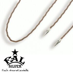 F.A.L ゴシックネイル デッドバインカラーチョーカーS ブラウン ネックレス(ペンダントトップなし) スパイク とげ 編み紐 コード ろうびき紐 ワックスコード エフエイエル ネックレス ペンダ