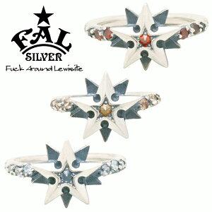 F.A.L ノーティカルゴシックスターライトリング リング 星 スター 北極星 タトゥー ジルコニア エフエイエル リング 指輪 シルバー925 銀 シルバーアクセサリー メンズ レディース 男性 女性