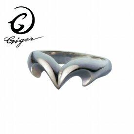 GIGOR ジゴロウ ティアラリング FIENAL series フィーナルシリーズ クラウン 王冠 ハート シンプル キレイめ スマート 細身 細い 華奢 シルバー925 シルバーアクセサリー 銀 SV925 指輪 シルバーリング 銀指輪 メンズリング レディースリング メンズ ハード 存在感