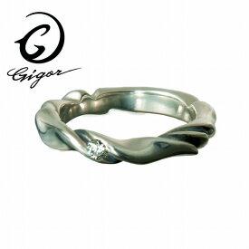 GIGOR ジゴロウ ナローリング NARROW series ナローシリーズ 波 曲線 ウェーブ 細身 細い 華奢 キュービックジルコニア CZ 天然石 ガラス サファイア オニキス シルバー925 シルバーアクセサリー 銀 SV925 指輪 シルバーリング 銀指輪 メンズリング レディースリング メンズ
