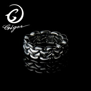 GIGOR ジゴロウ マーゲンリングS GEOMETRIC series ジオメトリックシリーズ ジオメトリー 幾何学模様 鎖 チェーン シルバー925 シルバーアクセサリー 銀 SV925 指輪 シルバーリング 銀指輪 メンズリン