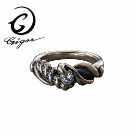 GIGOR ジゴロウ レディムリング FLEST series フリストシリーズ 螺旋 らせん ひねり ねじれ 波 曲線 ウェーブ キュービックジルコニア CZ 天然石 サファイア ガラス シルバー925 シルバーアクセサリー 銀 SV925 指輪 シルバーリング 銀指輪 メンズリング レディースリング