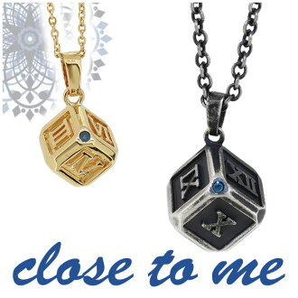 I smoke close to me Roman numeral blue diamond silver cube pair necklace pair accessories dice necklace silver 925, and gold coating 18-karat gold gold-collar K18 antique matching couple brand present popularity is stylish