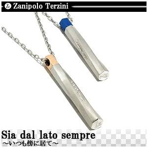 数量限定Zanipolo Terzini ギミックスティック ステンレス ネックレス ブルー ローズ ステンレスアクセサリー メンズ ザニポロ ペンダント プレゼント 人気 おしゃれ