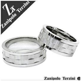 ザニポロタルツィーニ 波形ギミックライン ステンレス ペアリング 9〜23号 ペア 金属アレルギー サージカルステンレス リング ペアアクセサリー お揃い 指輪 ザニポロ Zanipolo Terzini ブランド カップル 人気 プレゼント おしゃれ