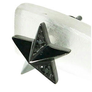 M's collection ブラックジルコニア スター シルバー1P メンズ レディース 銀の蔵 シルバー925 メンズピアス 男性用ピアス プレゼント 人気 おしゃれ かっこいい