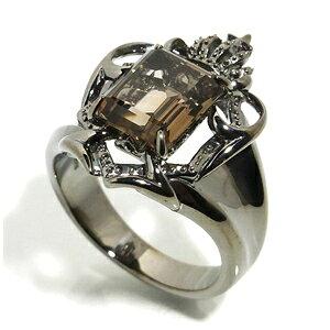AVALON スモーキークォーツ シールド ブラック シルバーリング 17〜23号 メンズ リング シルバー シルバー925 シルバーアクセサリー 男性 指輪 エンブレム 盾 メンズリング 男性用指輪 ブランド