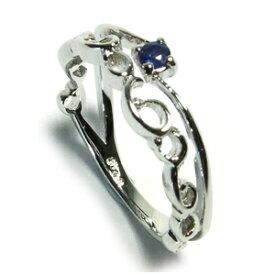 サファイアアラベスク シルバー ピンキーリング 3〜7号 925 銀の蔵 レディース リング Sapphire 女性用 指輪 小指 サファイヤ レディースリング レディース指輪 プレゼント 人気 かわいい おしゃれ