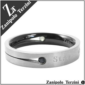 Zanipolo Terzini スリット ジョイント ジルコニア サージカルステンレス リング 15〜23号 ステンレス アクセサリー メンズ 指輪 金属アレルギー アレルギーフリー プレゼント メンズリング 男性用指輪 人気 おしゃれ