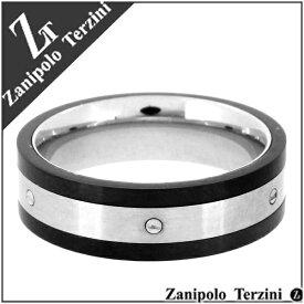 Zanipolo Terzini ブラック メカニカル サージカルステンレス リング 15〜23号 ステンレス アクセサリー メンズ 指輪 金属アレルギー アレルギーフリー プレゼント ギフト メンズリング 男性用指輪 人気 おしゃれ