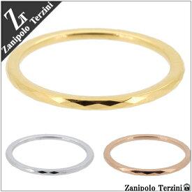 Zanipolo Terzini ダイヤライン ゴールド ノーマル ピンクゴールド サージカルステンレス リング 3〜11号 ステンレス アクセ レディース ピンキーリング 指輪 金属アレルギー 医療用 プレゼント 人気 おしゃれ